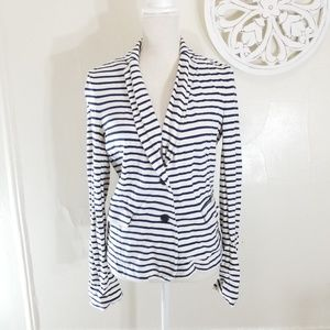 J.crew striped cardigan/jacket with buttons